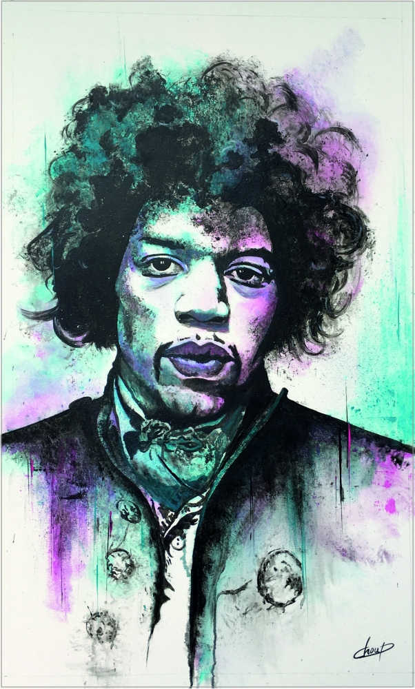 Jimi Hendrix by Choup